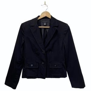 APOSTROPHE Size 10 Lined Blazer Button Front Black